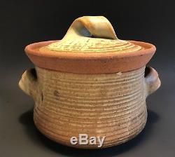 Vintage KAREN KARNES Studio Pottery LIDDED POT Bowl VASE Modernist MCM 8 1/2x11