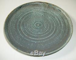 Vintage Karen Karnes Studio Art Pottery 10 Plate #2 Vermont New York MCM