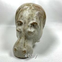 Vintage LOET VANDERVEEN Hippopotamus Sculpture Signed Hippo Studio Pottery Art