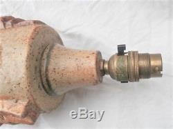Vintage Large BERNARD ROOKE Studio Pottery Lamp Signed Troika Era MCM
