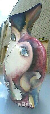 Vintage Large Harris Cies Studio Abstract Modern Art Pottery 2003 Vase Hand Made