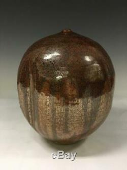Vintage Lynn Munns Studio Art Pottery Vase Vessel Mid Century Modern Signed