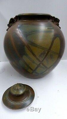 Vintage Lynne Rice Canister Australian Pottery Studio Ceramic Artist