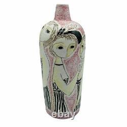 Vintage MCM Marcello Fantoni For Raymor Italy Studio Pottery Vase Signed Women