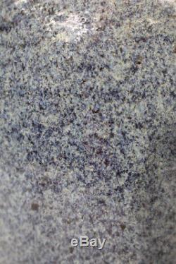 Vintage MCM Mid-Century Modern BLUE Speckled Studio Art Pottery 13.5 Urn Vase