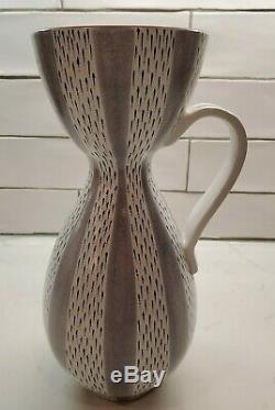Vintage/MCM Stig Lindberg Pottery Faience Vase Handled Ewer Gustavsberg Studio