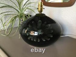 Vintage MID Century Green Lotus Pottery Devon Studio Pottery Table Lamp #6289