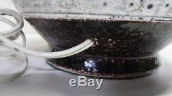 Vintage MID Century Italian Pottery Lamp Bitossi Era Vase Conversion Studio Pot
