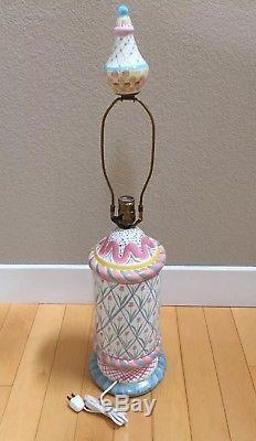 Vintage MacKenzie Childs Studio Hand Painted Tulip Pottery Lamp