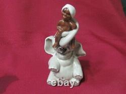 Vintage Madison Ceramic Arts Studio Boy On Roly-poly Elephant S & P Set