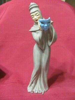 Vintage Madison Ceramic Arts Studio Tragedy Lady With Mask Figurine