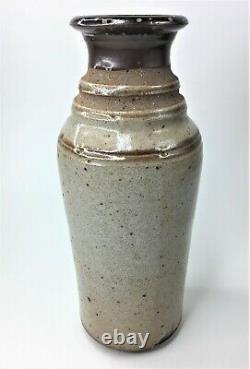 Vintage Mar Hudson Studio Art Pottery Tall Vase Northwest Washington Seattle