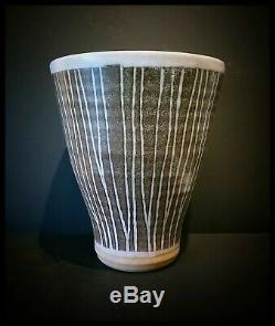 Vintage Marianne De Trey Scraffito Studio Pottery Vase