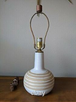 Vintage Martz Marshall Studios Pottery Lamp Mid Century Modern