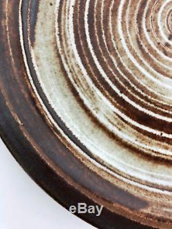 Vintage Martz Marshall Studios Pottery Spiral Plate Platter Mid Century Modern