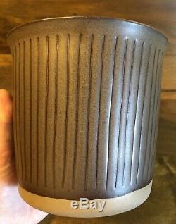 Vintage Martz Mid Century Modern Marshal Studio Pottery Canister-RARE-Dark Green
