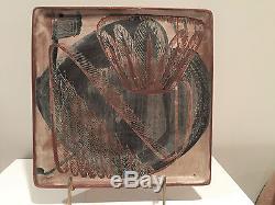 Vintage Mary Erckenbrack California Studio Art Pottery Tray / Plate Signed