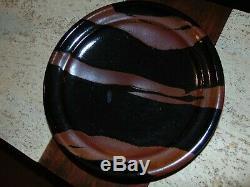 Vintage Mashiko Studio pottery Tenmoku Glaze Plate Hamada Shoji Warren Mackenzie