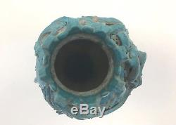 Vintage Maurice Grossman 8 Turquoise Studio Head Vase Pottery