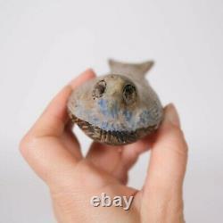 Vintage McCarty Bird Nutmeg Blue Bird Merigold Mississippi Studio Pottery