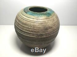 Vintage McCarty Pottery- Studio Style Spherical Vase