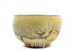 Vintage Mid-Century Brutalist Studio Pottery Bowl Planter Modernist Raw Indented