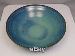 Vintage Mid Century Edwin & Mary Scheier Studio Art Pottery Robin Egg Blue Bowl