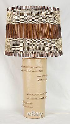 Vintage Mid-Century Modern 1950s Rita Sargen Chicago Studio Pottery Table Lamp