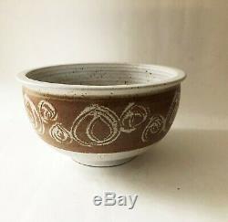 Vintage Mid Century Modern 1960's 1970's Studio Pottery Stoneware Bowl Planter