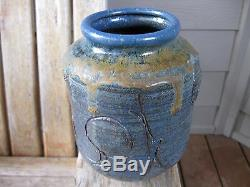 Vintage Mid Century Modern John Loree Tortured Brutalist Studio Pottery Vase