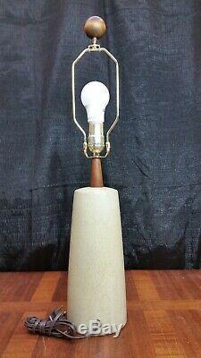 Vintage Mid Century Modern Martz / Marshall Studio Pottery Table Lamp MCM