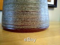 Vintage Mid Century Modern Studio Pottery Lamp Denis Vibert
