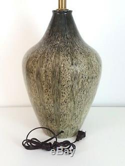Vintage Mid-Century Modern Studio Pottery Lamp Martz Raymor Design Technics Era
