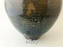 Vintage Mid Century Modern Studio Pottery Large Ceramic Drip Glaze Vase