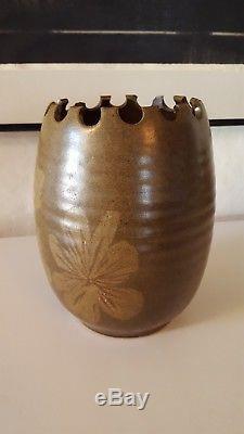 Vintage Mid Century Robert Maxwell California Studio Art Pottery Stoneware Vase