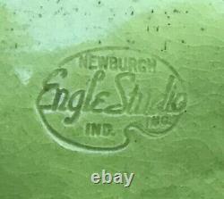 Vintage Mid Century Signed Frank Engle Studio Newburgh Indiana Art Pottery Horse