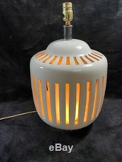 Vintage Mid Century Studio Pottery Art Pottery Ceramic Lamp