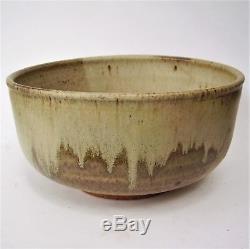Vintage Mid Century William Wyman Studio Pottery Large 10 Bowl 1965