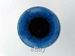 Vintage Modern 9 Signed Stamped Leach Blue Crystalline Studio Art Pottery Vase