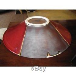 Vintage Modern Studio Art Pottery Large 17 Diameter Round Bowl Oxblood Signed