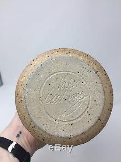 Vintage Modern Val Cushing Studio Pottery Stoneware Pitcher, signed