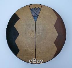Vintage Modernist Japanese Studio Pottery Burlap Platter Centerpiece-Large