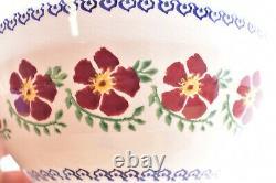 Vintage Nicholas Mosse Studio Pottery Old Rose Set of 3 Nesting Pedestal Bowls