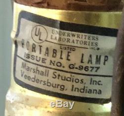 Vintage Original MARTZ marshall Studios STRIPED pottery Ceramic Lamp MCM 16H