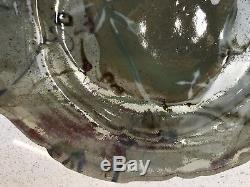Vintage PLUM TREE POTTERY JOHN GLICK STUDIO Irregular Shape Plate Signed! 14 1/2