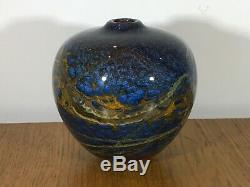 Vintage Peter Layton British Studio Art Glass Signed And Dated 1996