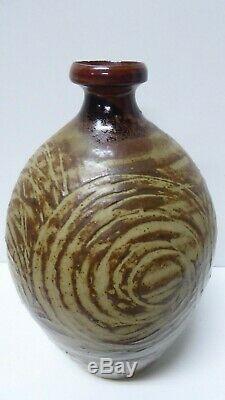 Vintage Phyl Dunn Large Vase Pot Australian Pottery Sgraffito Studio Art