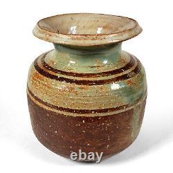 Vintage Pond Farm California Studio Art Pottery Vase Wildenhain Banded Glaze