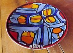 Vintage Poole Delphis Studio Pottery Charger Carol Cutler 1960s 36cm 14
