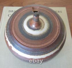 Vintage RAYMOND GALLUCCI 1960's Studio art Pottery Lidded Jar Listed Artist